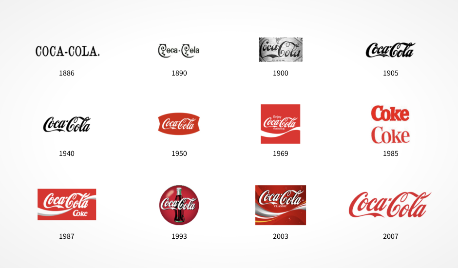 Coca-cola-logos-throughout-the-years