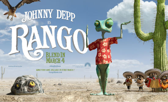 Rango Standee super bowl 2011 movie ad spot