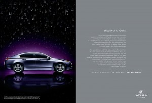 All New Acura TL Print Magazine Advertisement
