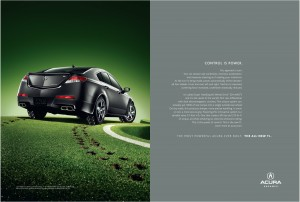 Acura TL Print Ad Super Handling All Wheel Drive